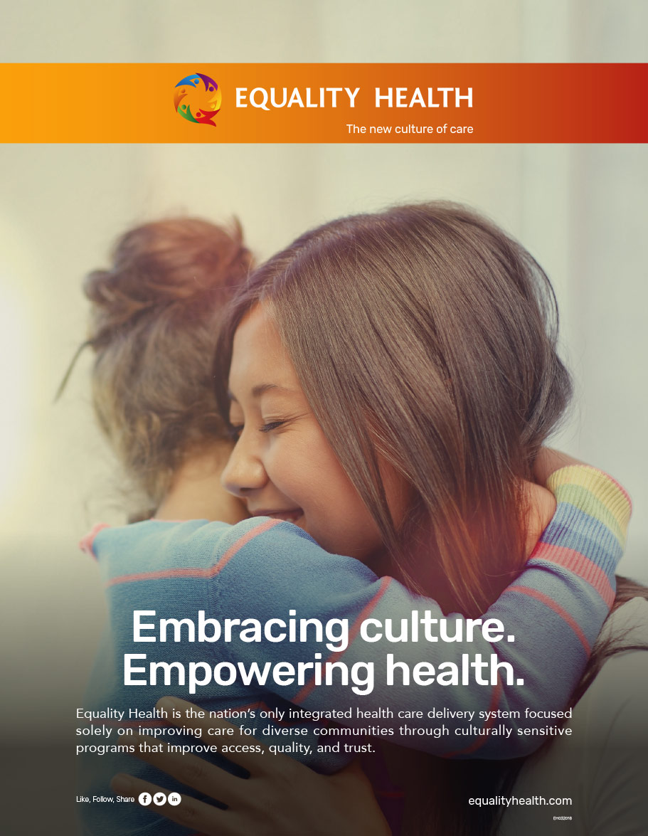 Copywriting - Equality Health Full Page Ad